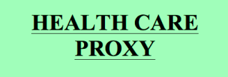 Health Care Proxy